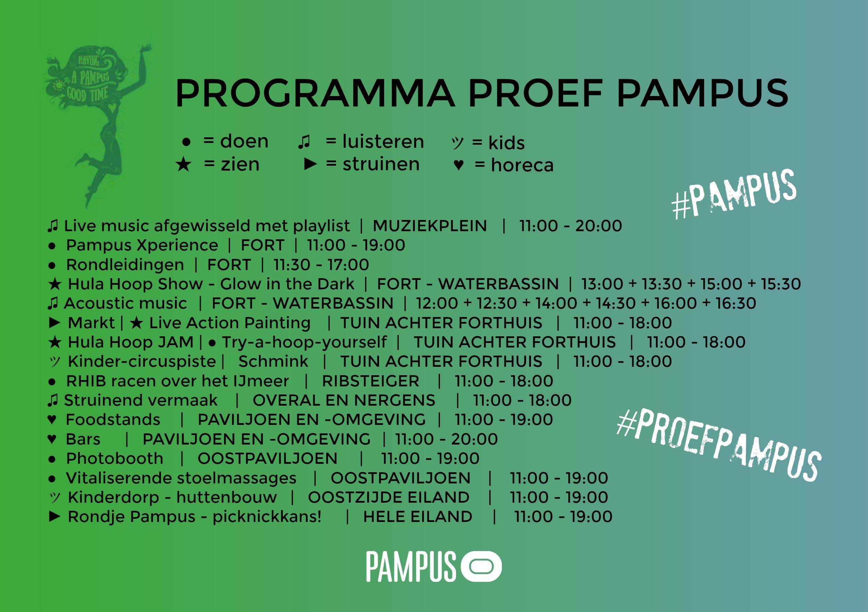 Het programma van Proef Pampus laat lekker veel variatie zien. Enjoy and feel fine on a little island... Proef Pampus