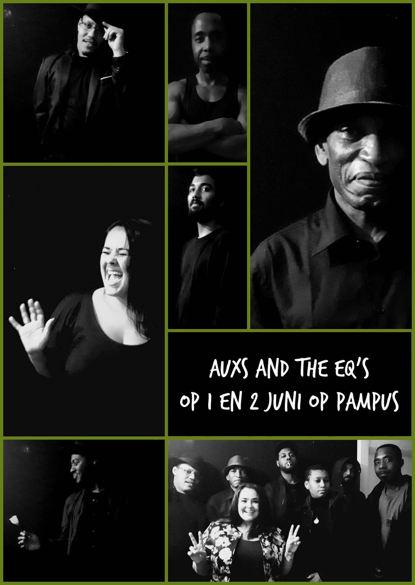 Auxs and the EQs komen drie dagen optreden op Proef Pampus!