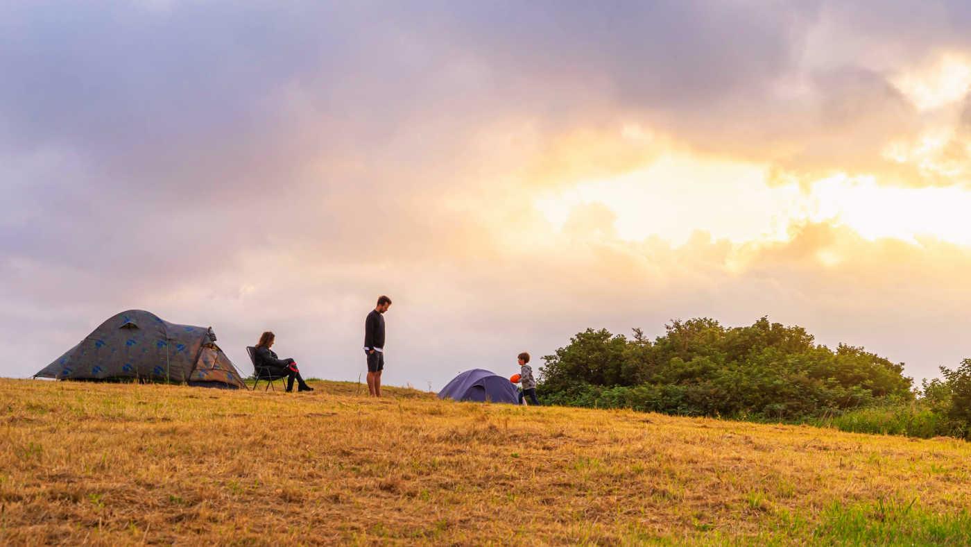 Eindeloos Pampus -kamperen met het gezin