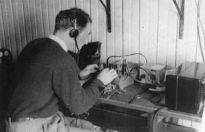 Morse en telegrafisten op forteiland Pampus