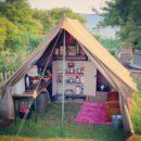 het pop-up keukentje op forteiland pampus waarin je zelf gaat koken als je komt overnachten op pampus