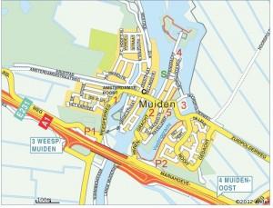 Kaart van Muiden