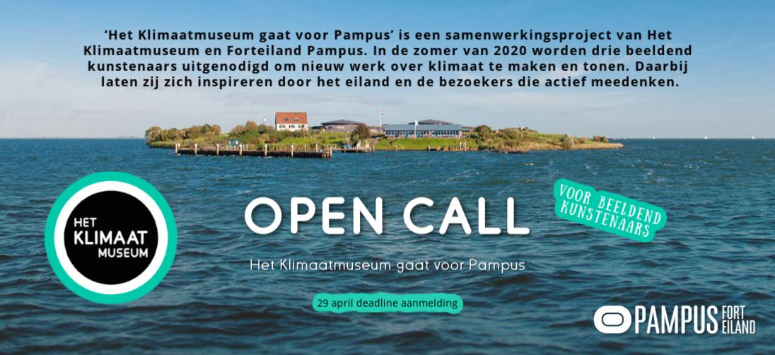 Open call, een oproep aan beeldend kunstenaars, door Het Klimaatmuseum en Forteiland Pampus