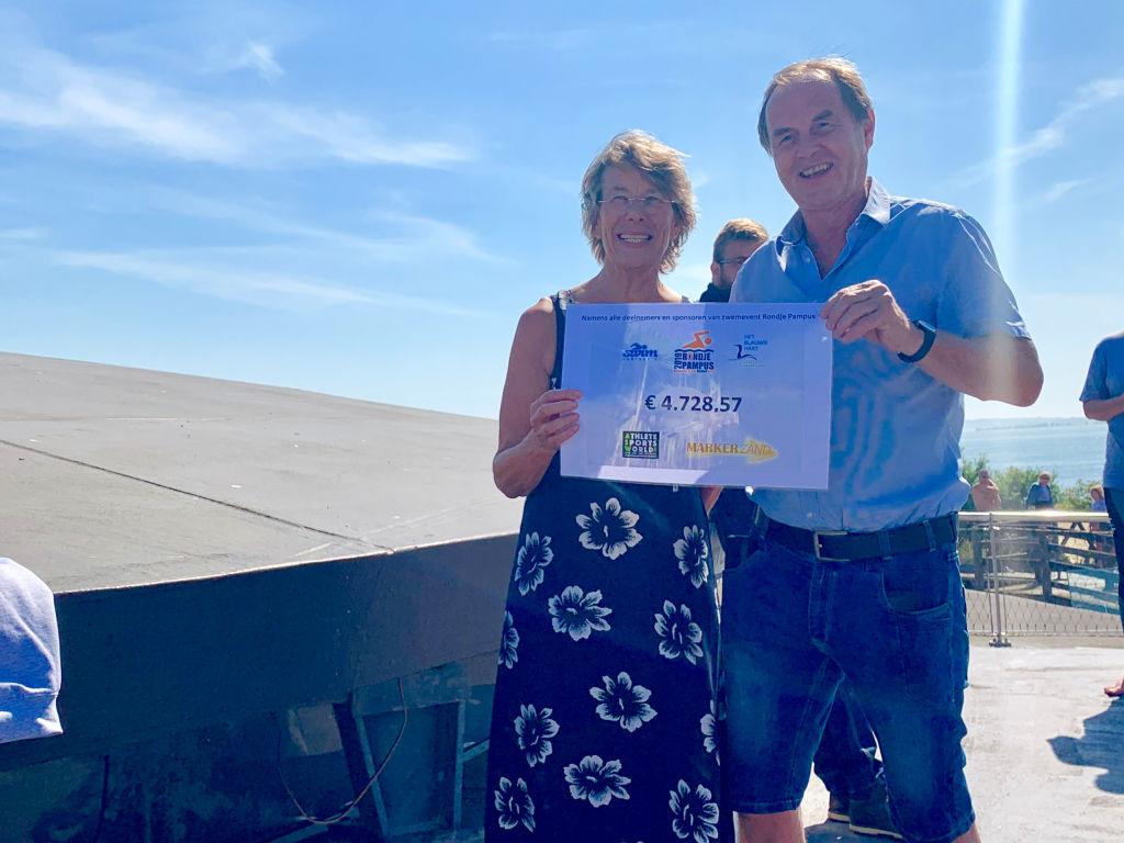 rondje pampus sportvisserij nederland coalitie blauwe hart natuurlijk cheque goed doel ijsselmeer