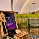 dubbele regenboog op pampus