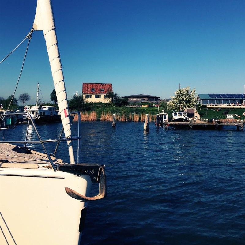 met eigen boot naar Puur Pampus