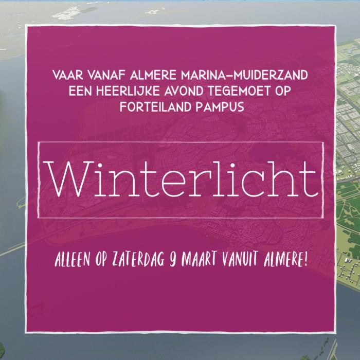 Winterlicht - Almeerse afvaart op 9 maart